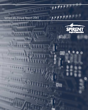 Spirent Communications annual report 2003