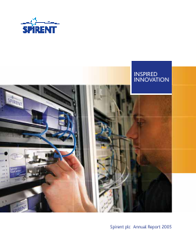 Spirent Communications annual report 2005