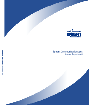 Spirent Communications annual report 2008