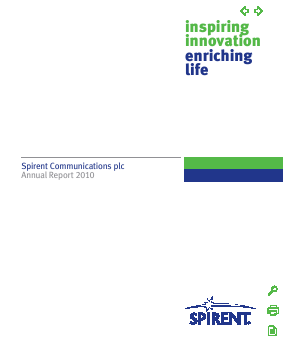 Spirent Communications annual report 2010