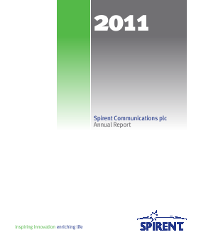 Spirent Communications annual report 2011