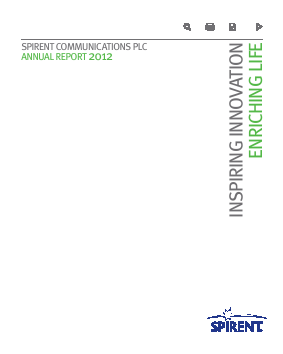 Spirent Communications annual report 2012