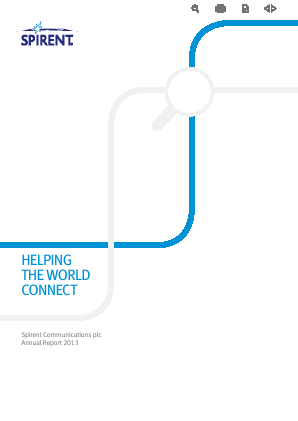 Spirent Communications annual report 2013