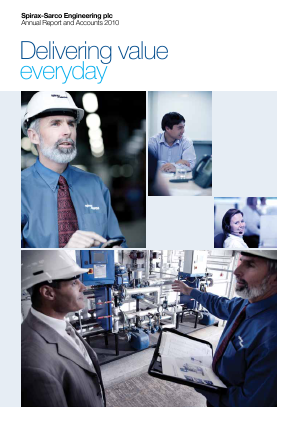 Spirax-Sarco Engineering annual report 2010