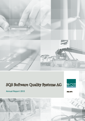 SQS Software Quality Systems Ag annual report 2013