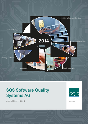 SQS Software Quality Systems Ag annual report 2014