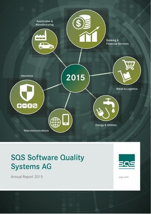 SQS Software Quality Systems Ag annual report 2015