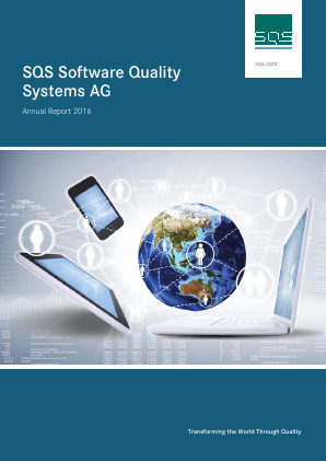 SQS Software Quality Systems Ag annual report 2016