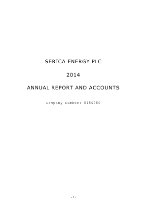 Serica Energy annual report 2014