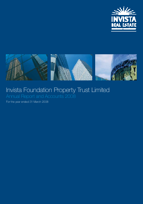 Schroder Real Estate Investment Trust Lt annual report 2008