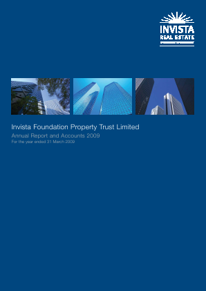 Schroder Real Estate Investment Trust Lt annual report 2009