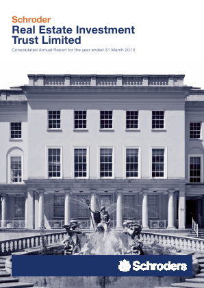 Schroder Real Estate Investment Trust Lt annual report 2013