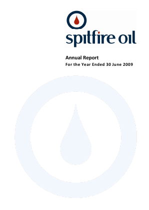 Spitfire Oil annual report 2009