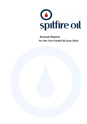 Spitfire Oil Ltd annual report 2016