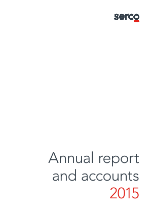 Serco Group annual report 2015