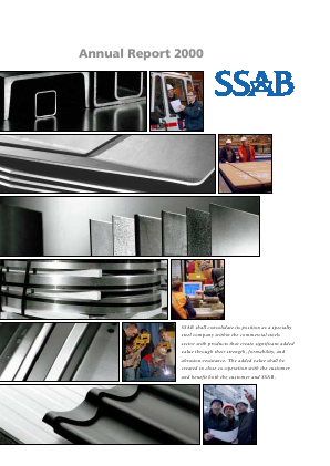 SSAB annual report 2000