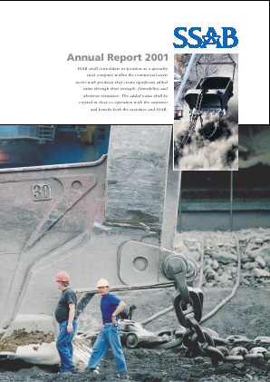 SSAB annual report 2001