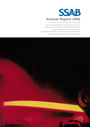 SSAB annual report 2002