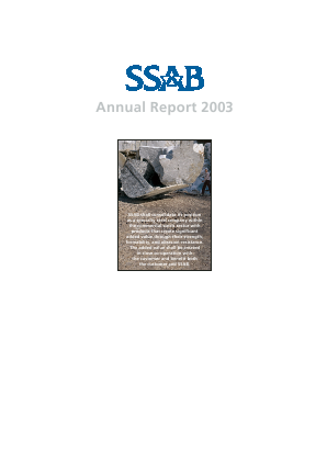 SSAB annual report 2003