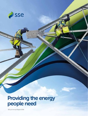Sse Plc annual report 2016