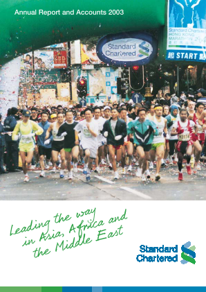 Standard Chartered annual report 2003