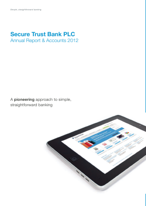 Secure Trust Bank Plc annual report 2012