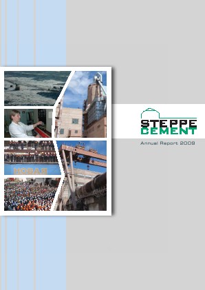 Steppe Cement annual report 2009