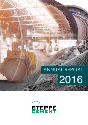 Steppe Cement annual report 2016