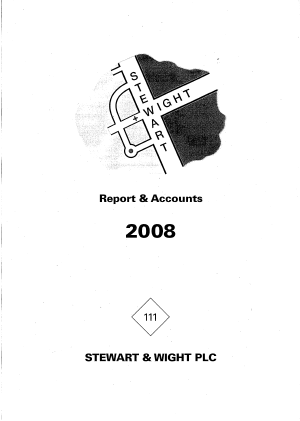 Stewart & Wight annual report 2008
