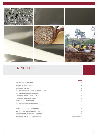 Stellar Diamonds Plc annual report 2009