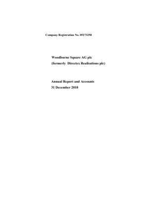 Stratmin Global Resources Plc annual report 2010