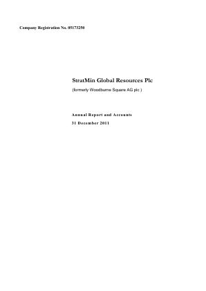 Stratmin Global Resources Plc annual report 2011
