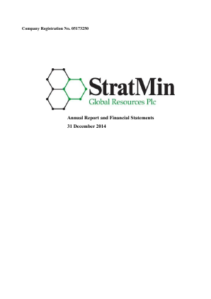 Stratmin Global Resources Plc annual report 2014