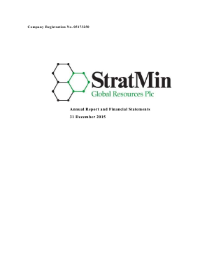 Stratmin Global Resources Plc annual report 2015