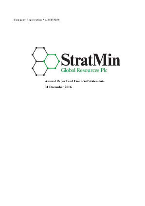 Stratmin Global Resources Plc annual report 2016