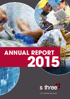 Sthree Plc annual report 2015