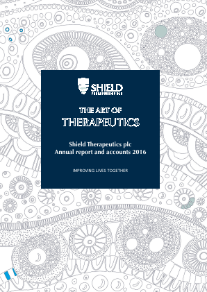 Shield Therapeutics annual report 2016