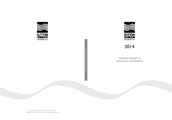 Sutton Harbour Holdings annual report 2014