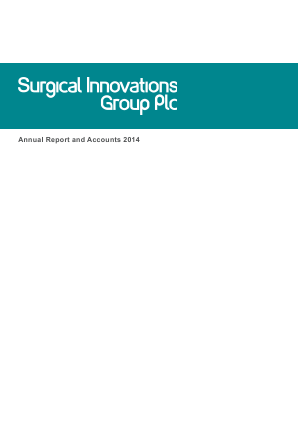 Surgical Innovations Group annual report 2014