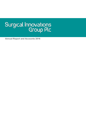 Surgical Innovations Group annual report 2016