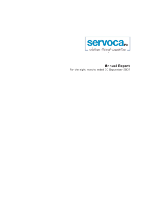 Servoca Plc annual report 2007