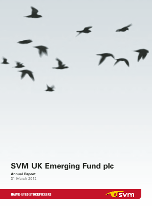SVM UK Emerging Fund annual report 2012