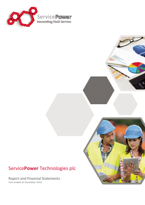 Servicepower Technologies Plc annual report 2015