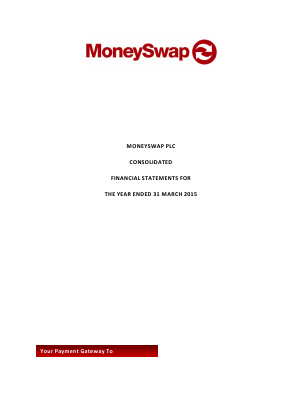 Moneyswap Plc annual report 2015