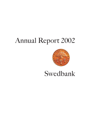Swedbank annual report 2002