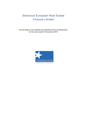 Starwood European Real Estate Finance annual report 2014