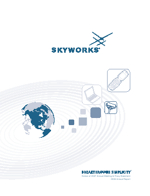 Skyworks Solutions, Inc. annual report 2006