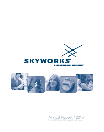 Skyworks Solutions, Inc. annual report 2010