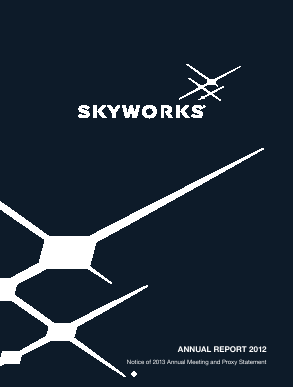 Skyworks Solutions, Inc. annual report 2012