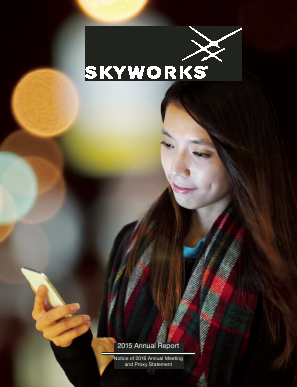 Skyworks Solutions, Inc. annual report 2015
